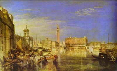 William Turner Bridge of Signs, Ducal Palace and Custom House, Venice Canaletti Painting