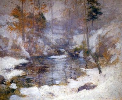 twachtman john henry winter harmony sun