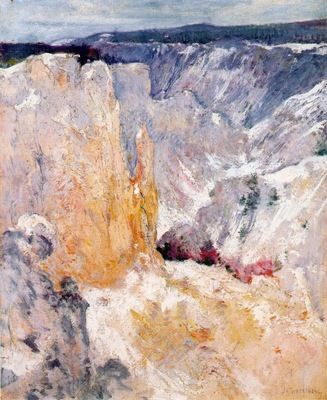twachtman canyon in the yellowstone c1895