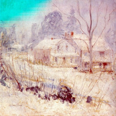twachtman country house in winter cos cob c1901