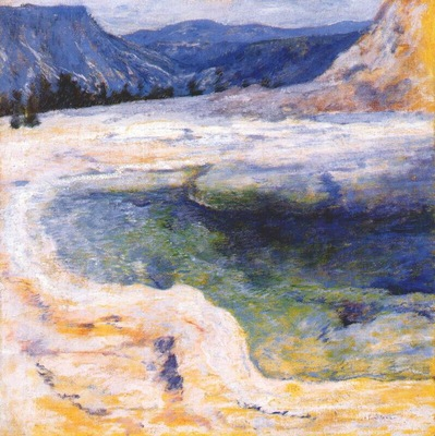 twachtman emerald pool yellowstone c1895
