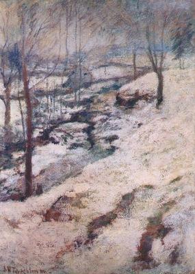 twachtman frozen brook c1893