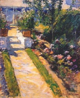 twachtman in the garden c1895