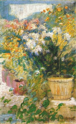 twachtman in the greenhouse c1890