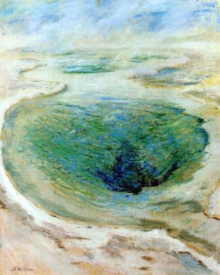 twachtman morning glory pool yellowstone c1895