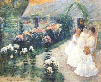 twachtman on the terrace c1897