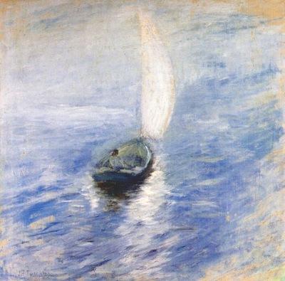 twachtman sailing in the mist c1890