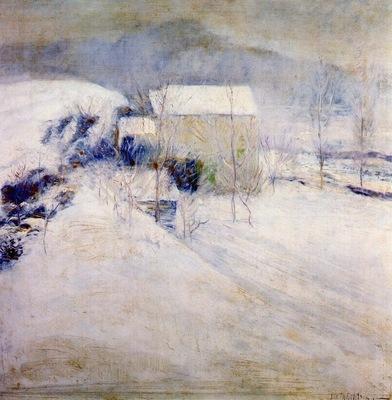 twachtman snow late 1890s