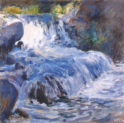 twachtman the waterfall c1895