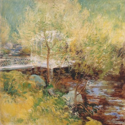 twachtman the white bridge 1895