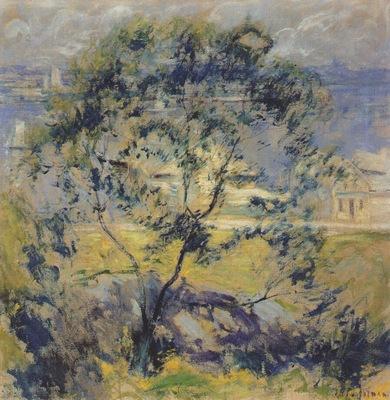 twachtman the wild cherry tree c1901