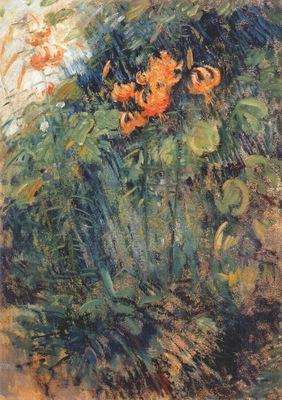 twachtman tiger lilies c1890