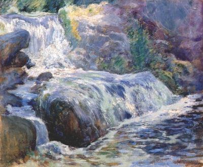 twachtman waterfall, blue brook c1895