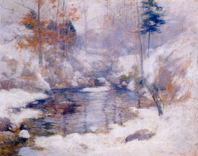 twachtman winter harmony early 1890s