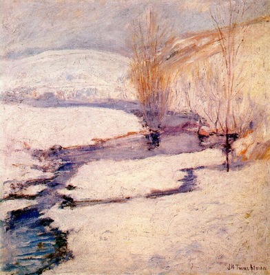 twachtman winter landscape c1891