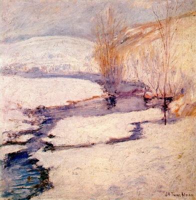 twachtman winter landscape c1891