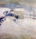 twachtman snow late 1890s