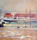 twachtman view from the holley house, winter c1901
