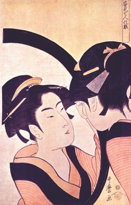 utamaro beauty at toilet mid 1790s