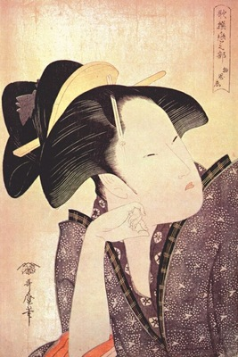 utamaro pensive love early 1790s
