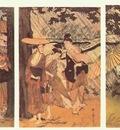 utamaro shower 1 triptych early 1800s