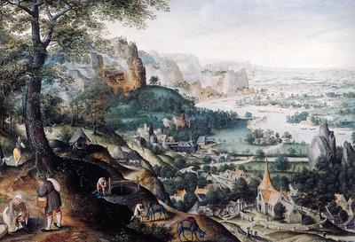 Valckenborch van Martin Panoramic landscape Sun