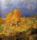 Vasilyev Fyodor Swamp in a forest Sun
