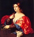 il Vecchio, Palma Portrait of a Young Woman Known as La Bella 1525 end