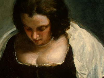 VELAZQUEZ THE NEEDLEWOMAN, C  1640 1650 DETALJ 1 NGW