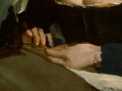VELAZQUEZ THE NEEDLEWOMAN, C  1640 1650 DETALJ 2 NGW