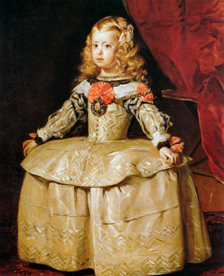 Velazques Diego Margaretha as a child Sun