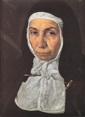 Velazquez Mother Jeronima de la Fuente detail