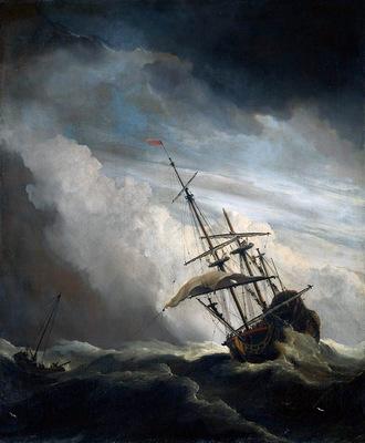 Velde II van de Willem The storm Sun