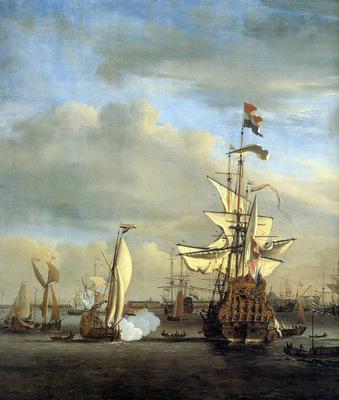 Velde van de jr Willem View on the IJ Amsterdam Sun