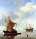 Velde van de Willem jr A calm sea Sun