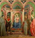 Domenico Veneziano Madonnan med barnet och helgon, ca 1445,
