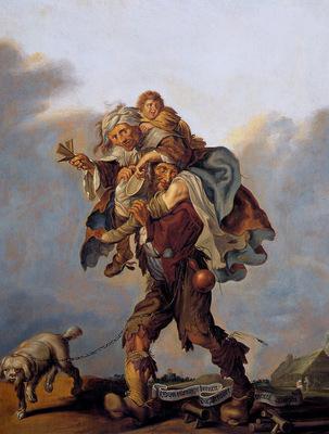 Venne Van De Adriaen Ellendige beenen die armoet draegen Sun