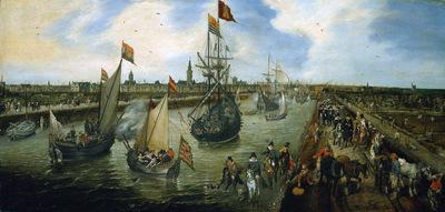Venne van de Adriaen Harbour of Middelburg Sun