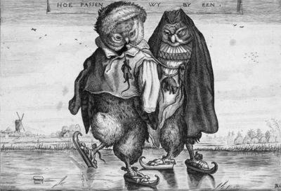 Venne van de Adriaen Scating owls Sun