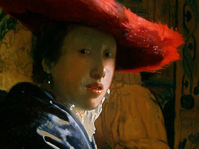 VERMEER GIRL WITH THE RED HAT DETALJ 1 NGW