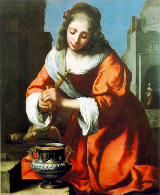 Vermeer Saint Praxidis, 1655, 102x83 cm, Private