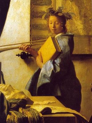 vermeer the art of painting, ca 1666 1673, 130x110 cm, det