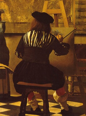 Vermeer The art of painting, ca 1666 1673, 130x110 cm, Detal