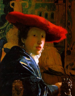 Vermeer The girl with the red hat, 22 8 x 18 cm, NG Washingt