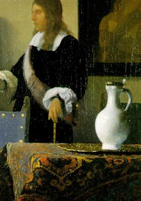 Vermeer The music lesson, ca 1662 1665, 74 6x64 1 cm, Detalj