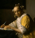 VERMEER A LADY WRITING DETALJ 1 NGW