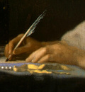 VERMEER A LADY WRITING DETALJ 3 NGW