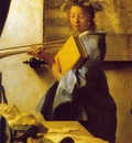 vermeer the art of painting, ca 1666 1673, 130x110 cm, det