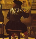 Vermeer The art of painting, ca 1666 1673, 130x110 cm, Detal
