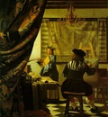 Vermeer The art of painting, ca 1666 1673, 130x110 cm, Kuns